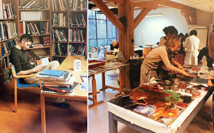 Biblioteket og verkstedet i Seilduksfabrikken